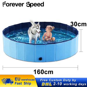 Dog Pool Foldable Pet Swimming Pool Pet Cat Bath Tub Bathtub Pet Collapsible Bathing Pools for Medium Large Dogs