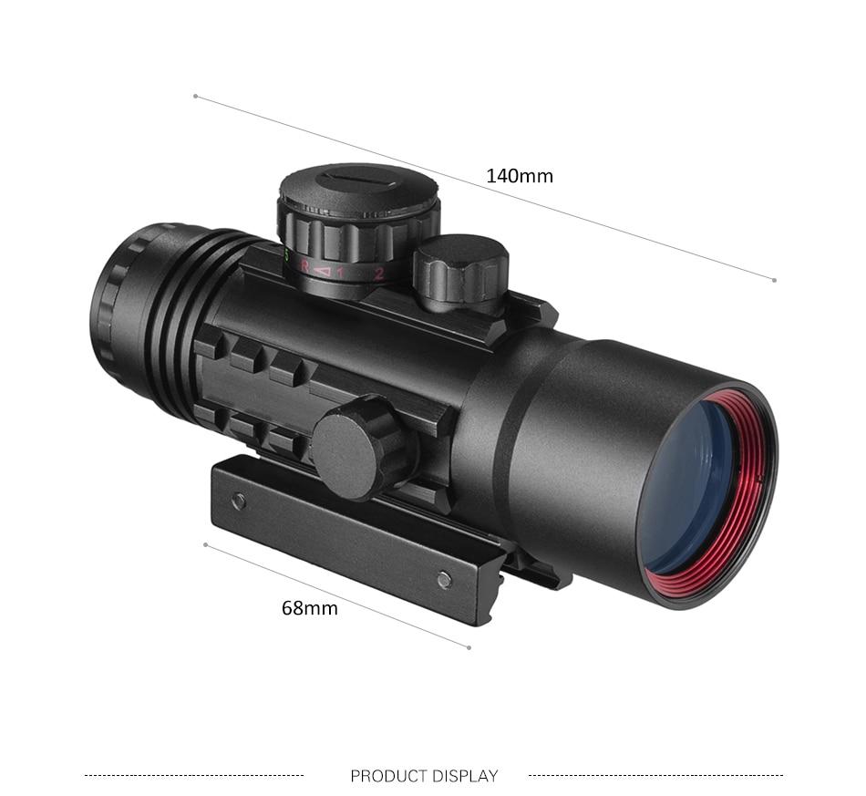 rifle escopo vermelho e verde dot scope