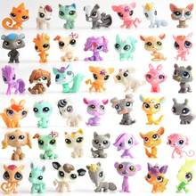 Hot Kawaii Lps Cat Pet Shop Toys Short Hair Kitten Dog Dachshundquality Action Figure Mini Little Animal Toy Cartoon Cute Dolls