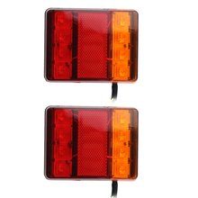 1Pair 8Lamps Double-color Tail Stop Light Brake Lights Rear Light