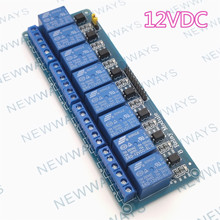 8 channels DC12V relay module supports low level trigger eig