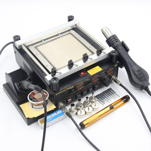 Image 2 - Gordak station de soudage numérique 3 en 1, pistolet à Air chaud, machine de retouche électrique BGA, fer à souder à infrarouge 863