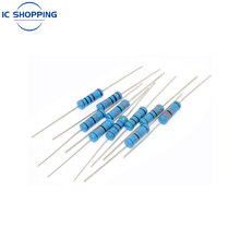 20PCS 2W metal film resistor 1% five-color ring power resistor 0.1~1M 2 4.7 10R 47 100 220 360 470 1K 2.2K 10K 22K 4.7K 100K Ohm