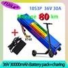 36v 30ah 18650 bateria de lítio 10s3p 30000mah 250w-500w mesmo porto 42v scooter elétrico m365 ebike bateria de energia com bms