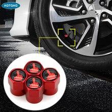 4 Teile/satz Rot eloxiert Reifen ventil stem Caps Aluminium Mittleren Finger Individualität Stem Staub Abdeckungen für Auto Reifen Dekorative Caps