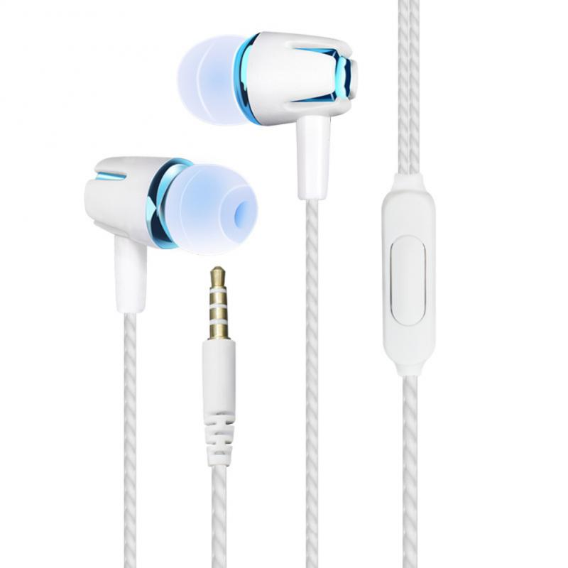 TOP Quality Mini Portable Wired Earphone Sport Stereo Earbud Headset With Mic For Iphone Samsung Huawei Xiaomi