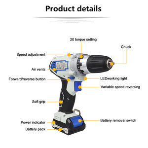 Image 2 - NEWONE 12V 2000mah Power Tools Angle grinder And Electric Drill With Two Lithium Battery And One Charger
