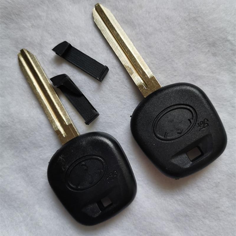 DAKATU โลโก้ Blank Transponder สำหรับ Toyota Rav4 Prado Camry Yaris Corolla เปลี่ยนกุญแจ toy43 ใบมีด