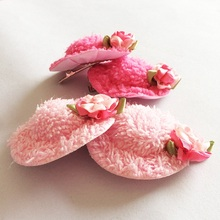 1 Pcs/lot Hair Grips For Young Girls Flower Hat Shape Lovely Colorful Ornaments Hairpins Round Trendy Trinkets Kids