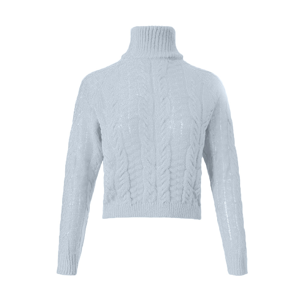 Promote┴Jumper Sweater Tricot-Jersey Winter Woman Casual Twist High-Collar Female Umbilical Sexy