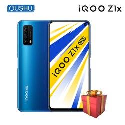 Оригинальный IQOO Z1x двойной режим 5G мобильный телефон 8 ГБ 128 5000 мА/ч, 33 Вт мгновенная зарядка 6,57 ''120 Гц гоночный Экран 48MP смартфон
