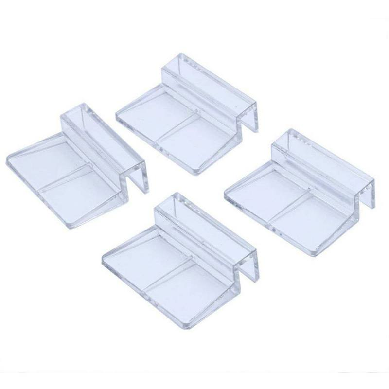 2019 New 6/8/10/12mm 4Pcs/lot DurableFish Aquatic Pet Parts Aquarium Fish Tank Acrylic Clips Glass Cover Support Holders Durable