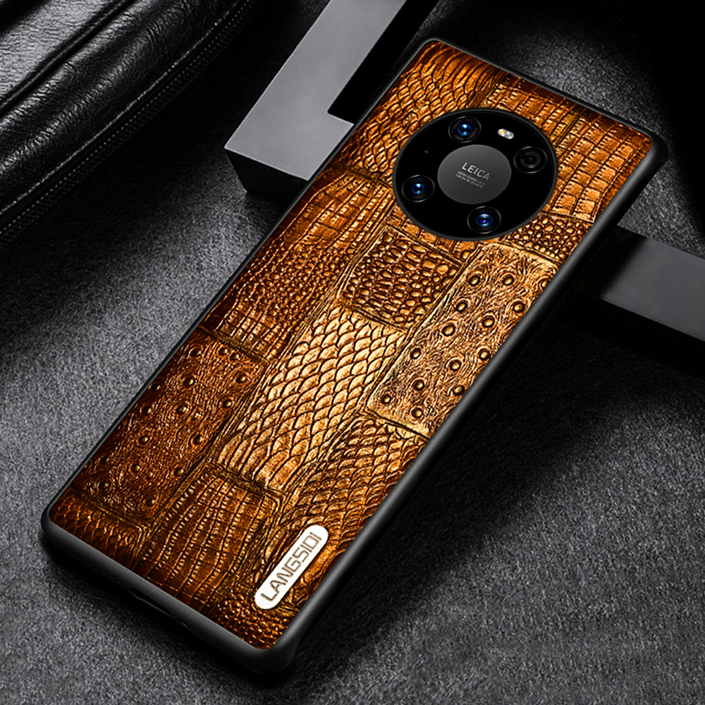 LANGSIDI Luxury Leather case For huawei Mate 40 pro plus mate 30 pro mate 20 lite phone cover case For HUAWEI P40 lite p30 pro