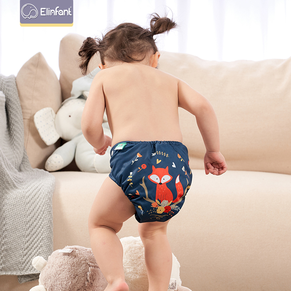 Elinfant Digital Positioning Printed Cloth Diapers Washable Reusable Real Nappy  Waterproof Cloth Diapers
