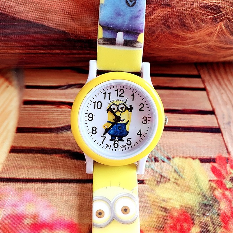 The New Cute Children's Cartoon Minions Silicone Print Belt Watch Boys And Girls Not Waterproof Leisure Quartz Watch