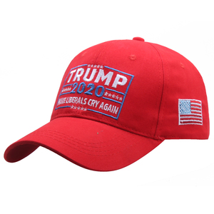 [SMOLDER]New Arrival Trump 2020 Make Liberals Cry Again Letters Snapback Hat Trucker Outdoor Baseball Caps(China)
