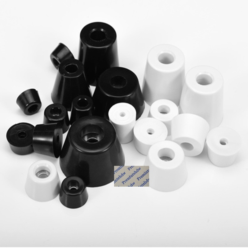 100Pcs/Lot White Black Rubber Round Taper Cone Feet Pad Bumper Spacer With Washer Furniture Electronics Appliances Instrument