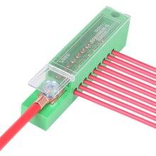 Unipolar Divisor de empalme para gabinete, caja de empalme, Terminal de cable, bloque de plástico ignífugo con cubierta, accesorios eléctricos