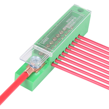 Unipolar Splitter bağlantı kutusu ölçüm dolabı tel Terminal bloğu alev geciktirici plastik kapaklı elektrik aksesuarları