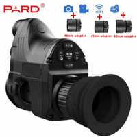 PARD NV700 Riflescope visión nocturna Digital integrado IR-Iluminador láser rojo añadir en Rifle Scope NV Monocular IR cámara grabadora