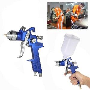 Image 5 - Nasedal HVLP Air Spray Gun Paint Sprayer 1.4mm/1.7mm  600ml Gravity Feed Airbrush Kit Car Furniture Painting Spraying Tool