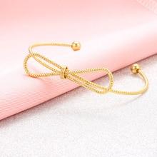 Simple bowknot open bangle elegant fine adjustable cuff bracelet for Women Girls Party fashion gift fine simple geometry open bangle tiny cuff bracelet jewelry bangle for women girls party fashion gift