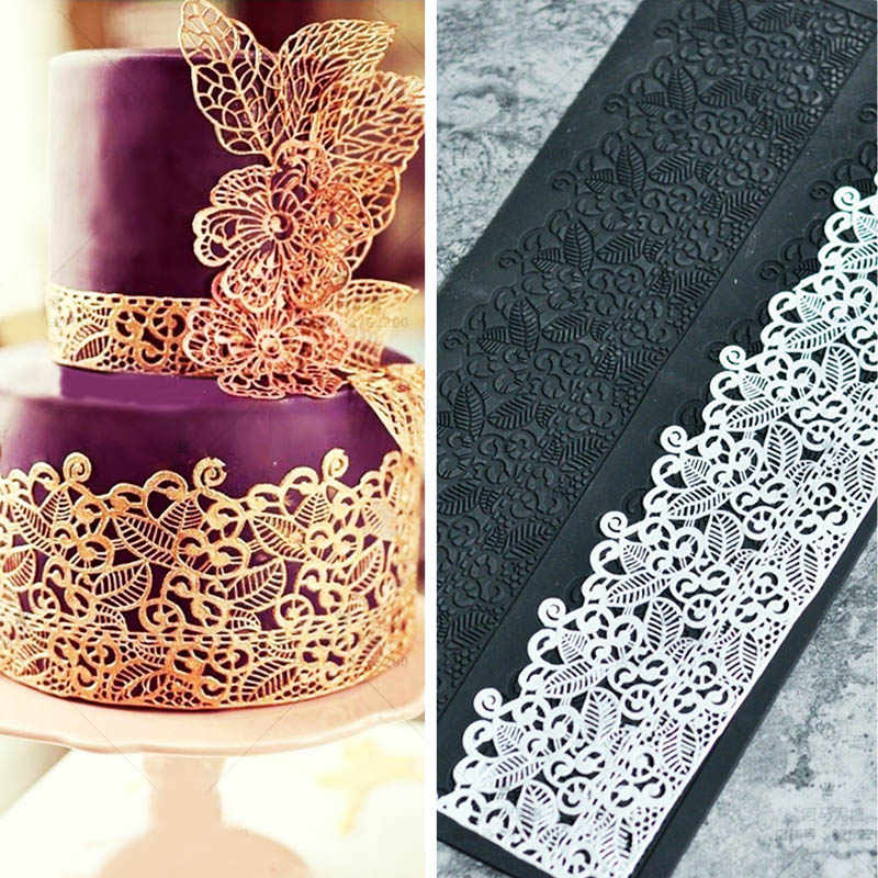 Silicone Mold Fondant Cake Lace Embossed Cake Mold Sugar Lace Mat Cake Decorating Tool Embossing Mat