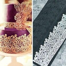 Formy silikonowe ciasto kremówki koronki do wytłaczania ciasta formy słodka koronka mata ciasto narzędzie dekoracyjne tłoczenie Mat