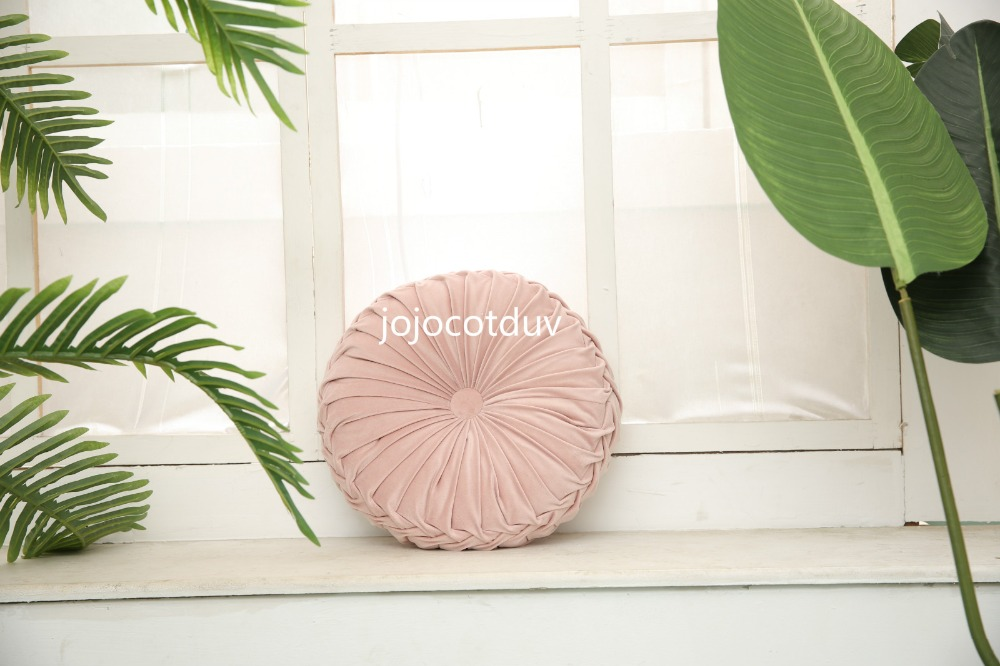 H875f0258bb0347a69647b193ce7f4de07 35*35x11cm European style round Seat cushion/Back cushion or as home decor pillow sofa pillow velvet fabric