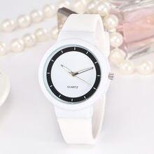 Piękny zegarek studencki dla kobiet dziewczynki biały silikonowy pasek na rękę zegarek prosty projektant zegarki damskie zegarki kwarcowe