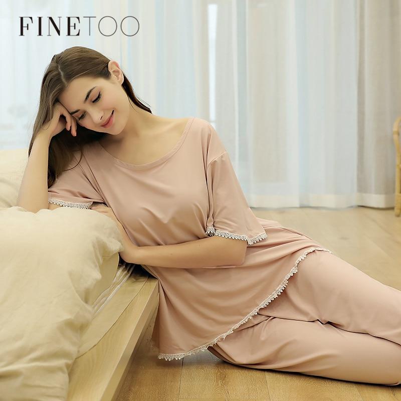 New Autumn Women Pajamas Sets Pink O-Neck Homewear Large Size Girls Sleepwear Women's Pijamas Suit Home Clothes Pyjama Femme New
