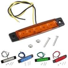 10pcs 12V 24V 6 LED רכב LED צד מנורת עמילות זנב הפוך הפעל אות אור משאית קרוואן משאית UTE אזהרת חניה אורות