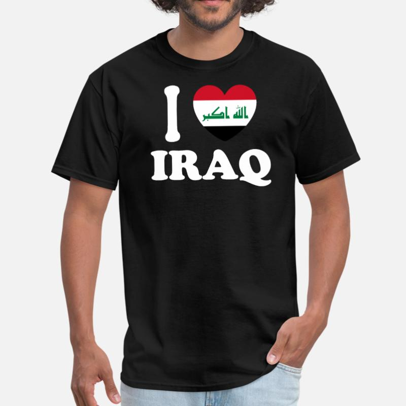 Personality I Love Iraq T Shirt For Men Cotton Round Neck Comics Tee Shirt For Men Oversize S-5xl Homme Tee Tops