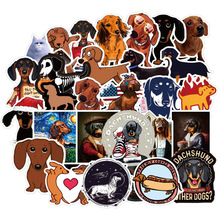 50 Pcs Dachshund Dog Stickers Funny Kawaii Sticker Laptop Skateboard Suitcase Diary Sticker Waterproof Stickers Toy For Children