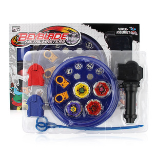 Image 4 - Original Box Beyblades Burst Gyro disc For Sale Metal Fusion BB807D With Handle Launcher and arena Set Kids Game Toys child