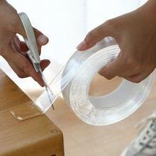 3m/5 3m Fita Dupla Face Transparente Removível Traceless Adesivo Nano Universal Forte Cola Gadget gekkotape Item Fixo cinta 50