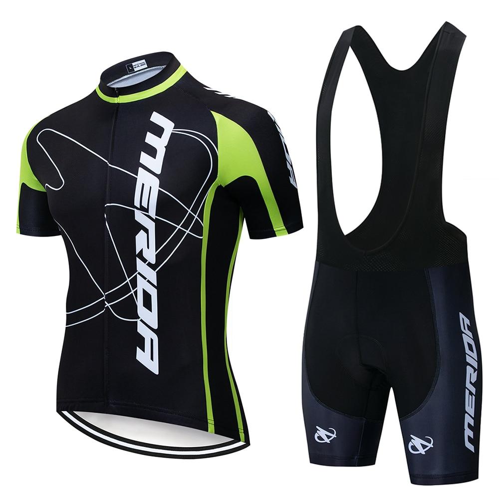 2020 MERIDAING Cycling Jersey Set Summer Cycling Wear Mountain Bike Clothing Bike Clothing MTBbike Cycling Clothing Cycling Suit