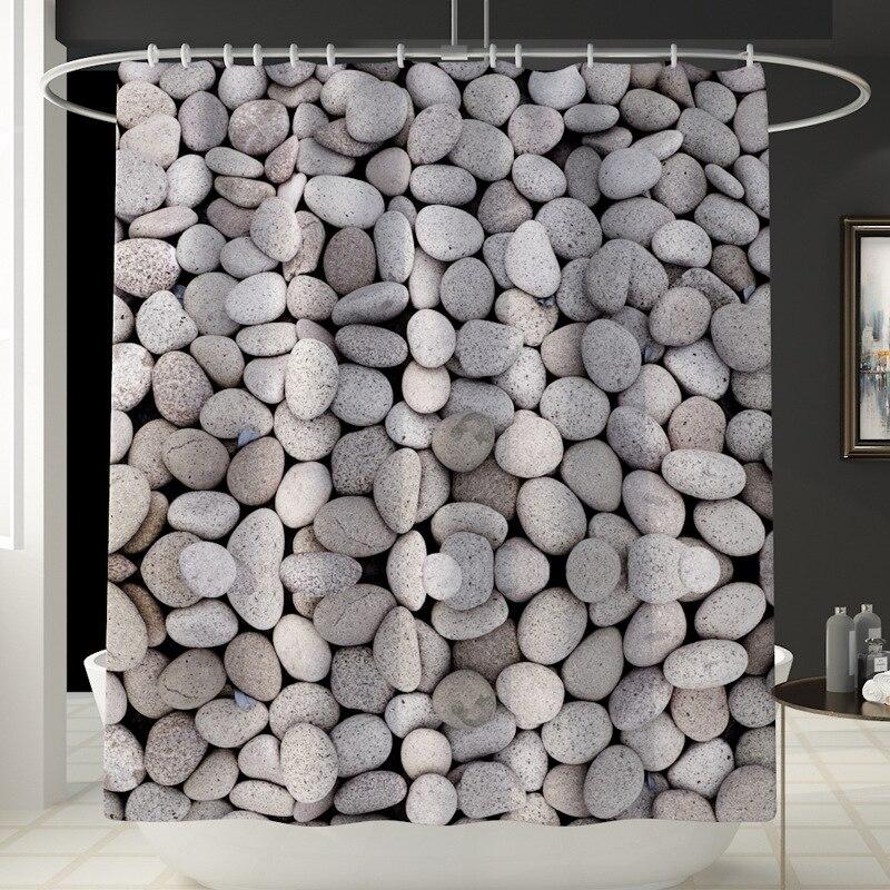 Занавеска для душа с мраморным принтом, 4 шт., покрытие для ковра, покрытие для унитаза, набор ковриков для ванной, занавеска для ванной комнаты с 12 крючками - Цвет: Shower Curtain