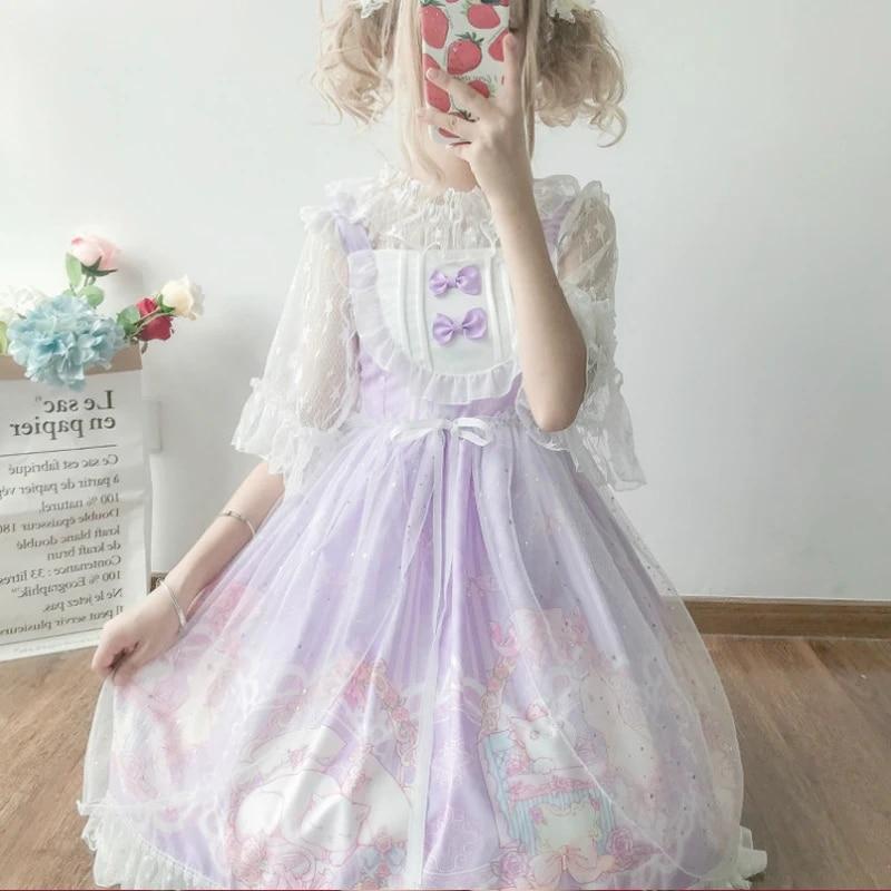 2020 Kawaii Lolita Dresses For Cos Loli Girl Sweet Fairy Clothing Japanese Jsk Under Lace Shirt Gothic Victorian Robe Lolita Lolita Dresses Aliexpress