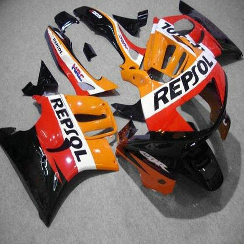 Motorcycle Fairing Kit For HONDA CBR600F3 1997 1998 CBR600 F3 97 98 CBR 600 F3 ABS Orange Repsol Fairing Kit+gifts-Nn