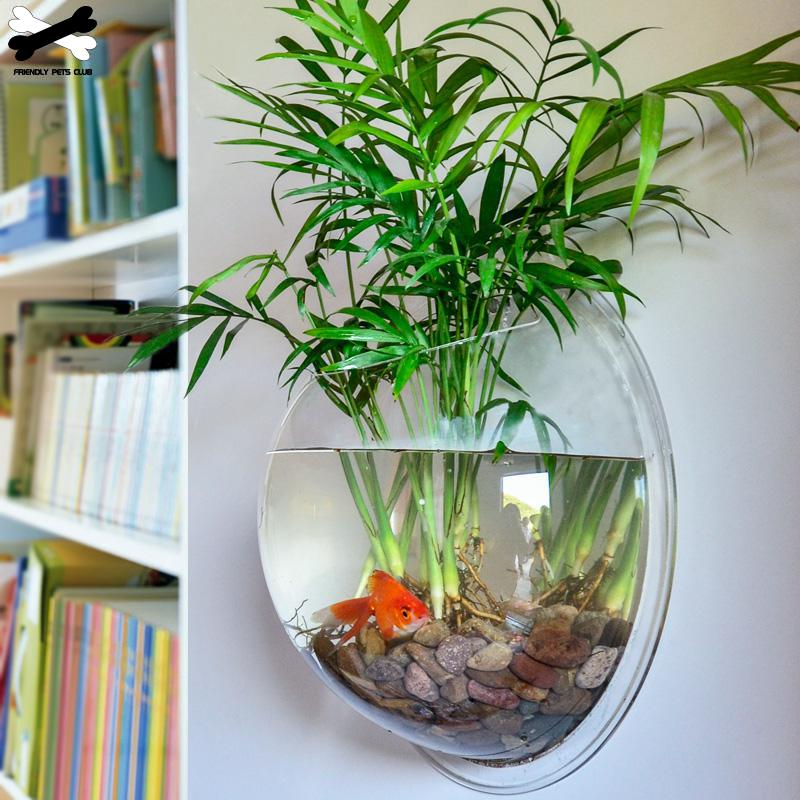 Mount Fish Tank Wall-Hanging Fish Bowl Decoration Planter Pet Supplies Acrylic Aquarium