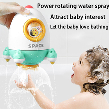 Bath Toys Play In Summer In Bathroom Water Playing Toy Rocket Fountain Water Spraying Rotary Spraying Beach Toy New Year Gift