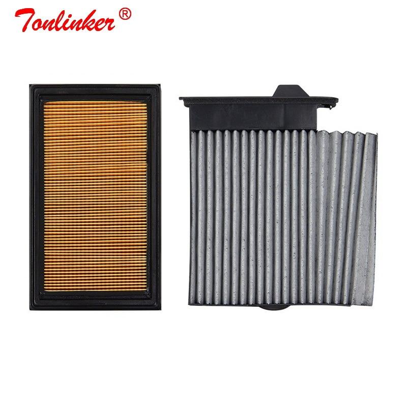 Автомобильный воздушный фильтр + салонный фильтр 2 шт. для Nissan Versa C11 2006-2012 C17 2012-2019 1.6L 1.8L, Комплект фильтров OEM 16546-ED500 27891-ED50A