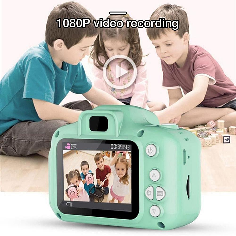 2 Inch HD Screen Chargable Digital Mini Kids Camera Cartoon Cute Camera Toys Outdoor Photography Props For Child Birthday Gift