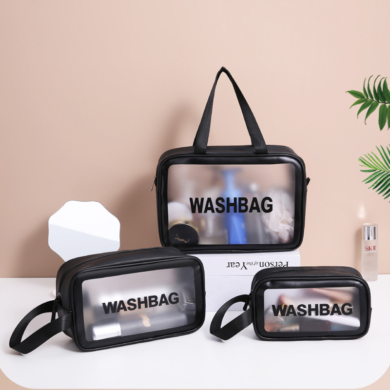 Transparent Cosmetic Bag Women's Multifunctional Travel Necessaire Toiletry Storage Package Makeup Organizer Pouch Accessories