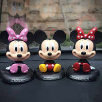 Car Ornaments Minnie Shakes Head Dolls Cartoon Lovely Mickey Dummy Car Interior Decoration Accessories 1PC