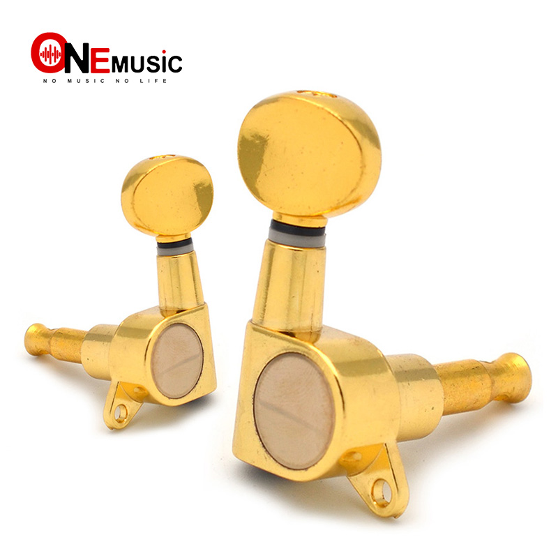 Chrome Gold Inline Guitar Tuning Pegs Keys Tuners Machine Heads For Strat Tele Style Electric Guitar