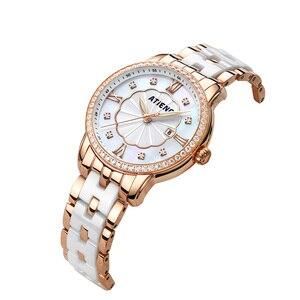 Image 3 - Reloj de Mujer Atieno, regalo de vacaciones, pulsera de cerámica de lujo, reloj de pulsera Para Mujer, Relojes de cuarzo Para Mujer