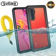 Shellbox Waterdichte Telefoon Case Voor Huawei P30 Lite P40 Pro Stofdicht Zwemmen Cover Voor P20 Mate 20 30 Pro Onderwater coque Case