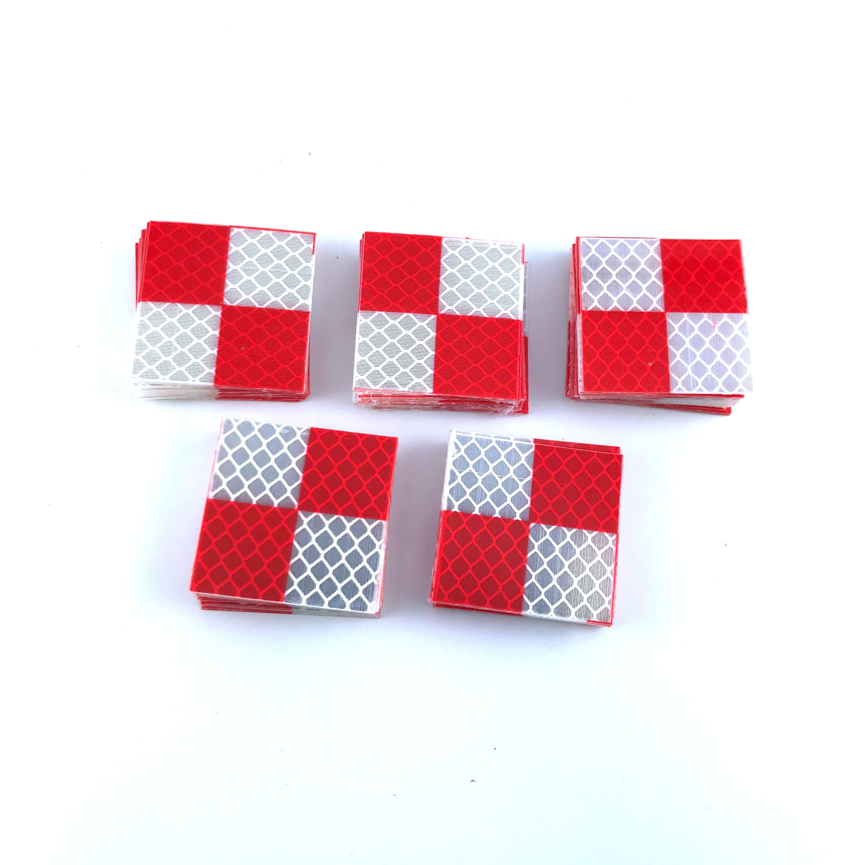 Alvo para o Levantamento de Estações Pces Marca Novo Vermelho Branco Cor Refletor Folha Tamanho 40*40mm Fita Reflexiva Totais 100 2020